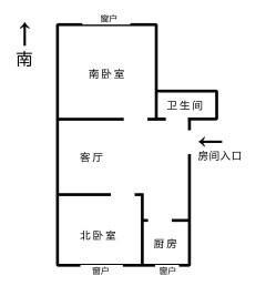 (老边区)滨水人家A区2室1厅1卫71.13m²毛坯房